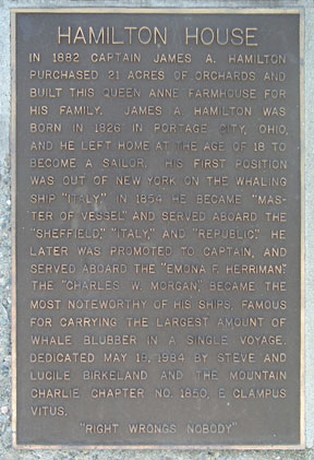 [Photo of plaque.]