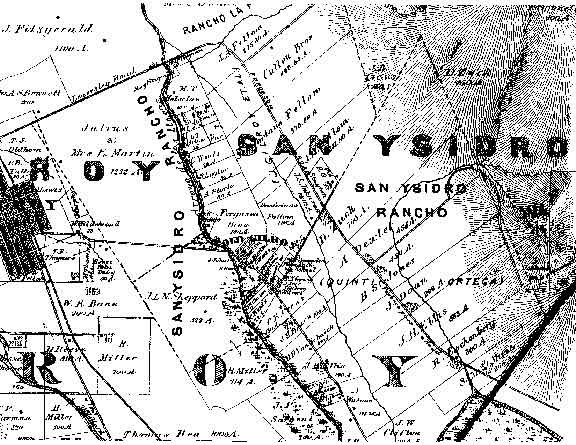 [ 1876 map of San Ysidro Rancho. ]