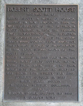 [ Photo of plaque. ]